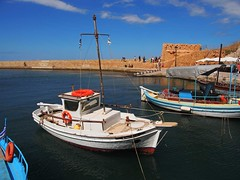 at the harbour (try...error) Tags: rethymno crete kreta sea sky blue boat rethymnon fishing sail greece chania hania