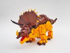 Triceratops Leo (gid617) Tags: lego dinosaur triceratops lion creature