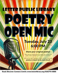 Open Poetry Mic (Lester Public Library) Tags: 365libs lesterpubliclibrary librariesandlibrarians lpl library lesterpubliclibrarytworiverswisconsin libraries libslibs libraryprogram libraryprograms publiclibrary publiclibraries summerreading summerreadingprogram tworiverswisconsin wisconsin wisconsinlibraries readdiscoverconnectenrich