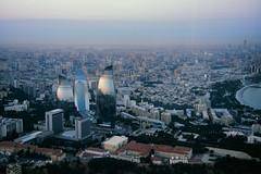 Ektachrome Baku Sunset (Packing-Light) Tags: film analog 35mm baku azerbaijan caucasus eurasia emulsion nikonf6 city landscape kodak slidefilm chrome transparency ektachrome100 e100