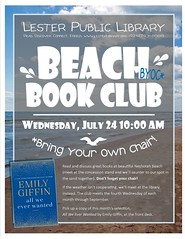 Beach Book Club (Lester Public Library) Tags: 365libs lesterpubliclibrary librariesandlibrarians lpl library lesterpubliclibrarytworiverswisconsin libraries libslibs libraryprogram libraryprograms publiclibrary publiclibraries summerreading summerreadingprogram tworiverswisconsin wisconsin wisconsinlibraries readdiscoverconnectenrich