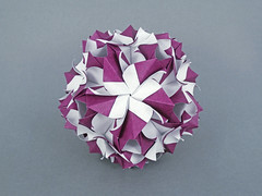 Наташа, с днём рождения! (masha_losk) Tags: kusudama кусудама origamiwork origamiart foliage origami paper paperfolding modularorigami unitorigami модульноеоригами оригами бумага folded symmetry design handmade ar