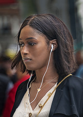 Portrait (D80_518118) (Itzick) Tags: denmark portrait color face copenhagen candid streetphotography brunette earphones d800 blackwoman facialexpression colorportrait itzick