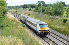 Greater Anglia 82133, Acton Turville (sgp_rail) Tags: train rail railway trainspotting nikon d7000 summer 2019 july track main line mainline greater anglia dvt class 82 82133 driving trailer drs direct services 57 57003