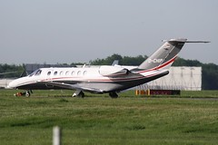 D-CHIP (IndiaEcho) Tags: england london canon eos airport aircraft aviation jet aeroplane civil essex stansted airliner airfield stn egss 1000d 525 cessna citation dchip