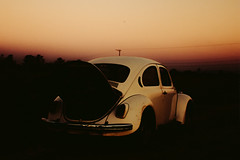 Sombra de Fusca Velho (4) (Denny.David) Tags: beetle sun yellow conceitual concept old gold low light