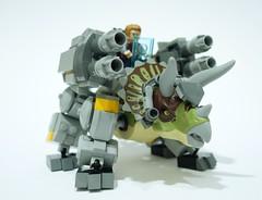 Tricerabot (chubbybots) Tags: lego dinosaur mech robot