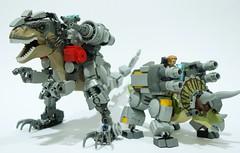 the dinoriders1 (chubbybots) Tags: lego dinosaur mech robot