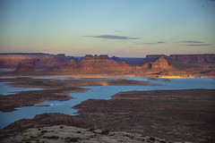 Looking down on Lake Powell (CraDorPhoto) Tags: canon5dsr landscape water lake mountains valley buttes nature outdoors outside usa utah sky blue alstrompoint