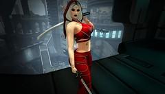 Cyber Elf (*~~~Amanda~~~*) Tags: zennyrose zencho secondlife the forge katana blackdragonviewer elf exploring hangarsliquides maitreya catwa foxy quixotica lumae