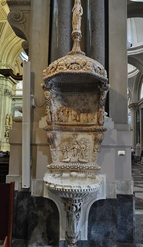 "Bénitier XVe, Domenico Gagini (1449-1492), cathédrale Santa Vergine Maria Assunta (XIIe-XVe-XVIIIe), Palerme, Sicile, Italie. • <a style=""font-size:0.8em;"" href=""http://www.flickr.com/photos/50879678@N03/48315304152/"" target=""_blank"">View on Flickr</a>"