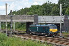 """Caledonian Sleeper Liveried Class 92, 92006 (37190 """"Dalzell"""") Tags: cs caledoniansleeper csstaglogo darkblue midnightteal gbrf gbrailfreight hectorgroup brush acdc sparkies electric dyson class92 92006 springsbranch wigan"""