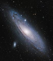 Andromeda Galaxy with a DSLR (AstroBackyard) Tags: andromeda galaxy space astronomy astrophotography m31 deep sky night photography dslr camera canon xsi 450d stars telescope