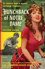 Avon Books T-190 - Victor Hugo - Hunchback of Notre Dame (swallace99) Tags: avonbooks vintage 50s movietiein paperback ginalollobrigida anthonyquinn
