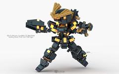 RX-0 Unicorn Gundam 02 Banshee Destroy Mode, OVA. Ver. Chibi Type Pose 02 (clmntin.E) Tags: gundam mecha mech rx0 unicorn phenex banshee full armor destroy mode narrative chibi lego moc military afol creations norn psycho frame