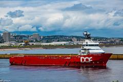 Skandi Rona Departing Aberdeen Harbour 13/07/2019.