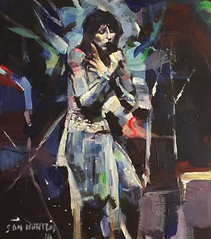 Another Kate Bush acrylic painting sketch 10 by 12 inches (Captain Wakefield) Tags: art contemporary performer singing woman figurative impressionist artist burton samuel acrylic bush kate painting