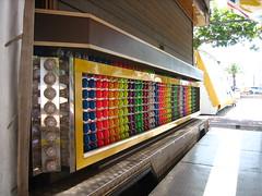 day lights (Ladybadtiming) Tags: funfair colours light fiesta summer fun counter bulbs off