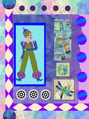 circus (ladybumblebee) Tags: digitalart digitalcollage circus purples layers collage contemporarywomenartists