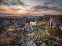 Foggintor Quarry (Timothy Gilbert) Tags: devon dartmoor microfournerds panasonic wideangle sunset lovedevon m43 microfourthirds lumix laowacompactdreamer75mmf20 foggintorquarry gx8 dartmoor365 boulders rocks