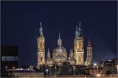De puente a puente (Fernando Forniés Gracia) Tags: españa aragón zaragoza basílicadeelpilar elpilar landscape paisajeurbano fotografíanocturna paisaje