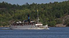 The steam ship Storskär in Stockholm (Franz Airiman) Tags: stockholm sweden scandinavia boat ship fartyg båt waxholmsbolaget nacka