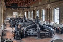 (ilConte) Tags: crespidadda abbandono abandoned decay industria industry industrial powerplant factory turbines