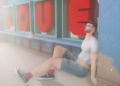 Love Is Love (EnviouSLAY) Tags: love backdrop wetcat black white shorts denim toritorricelli tori torricelli versov lowtops shoes sneakers modulus brunette thirst croptop crop top tee shirt lelutka andrea belleza jake bento newreleases new releases belleevents tmd belle events themensdepartment the mens department mensmonthly mensevent mensfashion mensfair monthlymen monthlyfashion monthlyfair monthlyevent monthly event fair fashion pale male gay lgbt blogger secondlife second life photography equality