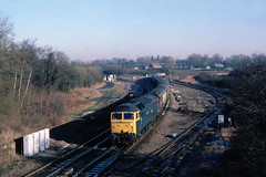 A very openlooking Whitacre Jnc some 33 years ago....the working was somewhat of a mystery tho....47539 Rochdale Pioneers Venice Simpleon ecs from SOA at Whitacre Jnc (the.chair) Tags: 47539 rochdale pioneer with ecs venicesimpleon express from stratford avon whitacre jn 26011986