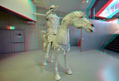 Paper-Art 2019 Coda Apeldoorn 3D (wim hoppenbrouwers) Tags: anaglyphstereoredcyan couzijnvanleeuwen anaglyph stereo redcyan paperart coda apeldoorn 3d 2019 art kunst tentoonstelling horse paard