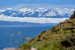 Enjoying - Isla de la Luna - Lake Titicaca - Bolivia (W_von_S) Tags: bolivia bolivien titicacasee laketiticaca islalaluna mondinsel see lake water wasser insel island mountains berge anden andes snow schnee wolken clouds himmel sky white blue green weis grün blau colorful farbig kontrast contrast farbkontrast landschaft landscape paysage paesaggio inka natur nature wvons werner sony sonyilce7rm2