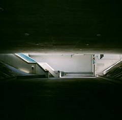 San Jose, California (bior) Tags: hasselblad500cm fujipro 160ns pro160ns mediumformat 120 lightrail vta blossomhill trainstation tunnel