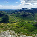 Panoramic view of Great and Little Langdales, Lake District