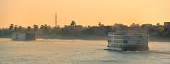Cruises on the Nile, Egypt. (Carlos Arriero) Tags: egipto egypt cruceros cruises nilo nile río river agua water paisaje landscape atardecer sunset viajar travel carlosarriero nikon d800e tamron 70200mmf28 panorámica panoramic barcos boats