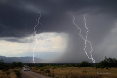 Border Patrol (slsjourneys) Tags: lightning monsoon storms downdraft