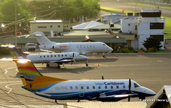 VQ-TDG (Lyndon Henry) Tags: embraer emb 120 brasilia intercaribbean george charles castries stlucia tlpc slu travel vacation holiday fly plane airport aircraft air sunshine beech 1900c bombardier challenger