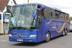 Shearings Ltd . Wigan . 905 BN17JSU . Hockrill , Bishop's Stortford , Hertfordshire . Thursday 18th-July-2019 . (AndrewHA's) Tags: hertfordshire bishopsstortford bus coach shearings 905 bn17jsu mercedes benz tourismo holiday tour