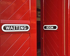 The Waiting Room (42jph) Tags: nikon d7200 uk england settle yorkshire dales railway station red