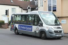 Bishop's Stortford Mini-Bus Trust . Hertfordshire . SJ16BJO . Dunmow Road , Bishop's Stortford , Hertfordshire . Thursday 18th-July-2019 . (AndrewHA's) Tags: hertfordshire bishopsstortford bus minibus fiat ducato mellor sj16bgo