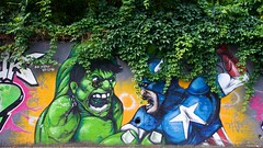 IMGP2704 Hulk and Captain America (Claudio e Lucia Images around the world) Tags: via cima ortica milano street streetart murales murale graffiti graffito art paintedhouse colors bandadellortica banda periferia pentax sigma sigma1020 pentaxart sigmaart edificio insegna strada orme orticanoodles noodles circolo circolino photomilano 1886 the octopus milan pentaxkp faces hulk captainamerica
