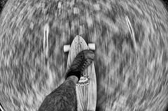 too long... (kceuppens) Tags: street blackandwhite bw white black stone fun nikon skating fisheye arbor longboard 105 nikkor zwart wit boarding steen nikkor10528 d7000 nikond7000 arborlongboard