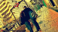 Callejeando (seguicollar) Tags: art arte artedigital texturas virginiaseguí imagencreativa photomanipulation metro calles pareja goya streetphoto