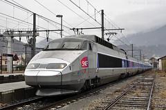 Rame TGV PSE 92 à Albertville (Alexoum) Tags: sncf tgv pse albertville bourg saint maurice paris landy vide savoie alpes hiver