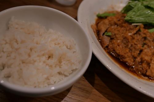 rice with 大麦三元豚排骨冷やし担々麺 Renge no Gotoku 05
