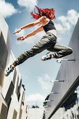 Jump (Deleven Photography) Tags: jump dancer parkour leap fit colorfullhair healthy