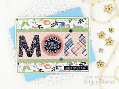 MOM (akeptlife) Tags: simplestories momsdaycollection card cardmaking papercrafting patternpaper mom mothersday