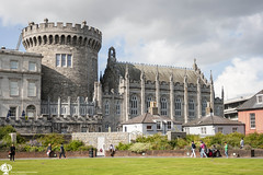 Dublin Castle (Music Celebrations International) Tags: spring historic ireland monument city tourist round yard sightseeing hall fortress architecture wall europe fort castle building medieval old european court town capital garden famous blue irish stronghold sky travel tower summer dublin sunny green landmark tourism eire window