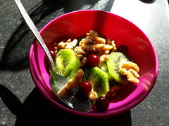 My Breakfast (Pete 1957) Tags: saffronwalden coathfamily essex breakfast food fruit nuts walnuts kiwifruit vegan healthy