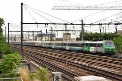 Artesia à Charenton (Alexoum) Tags: sncf fs italia artesia treno train nuit notte roma paris charenton bb26000 fret couchette palatino night