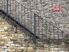 56A (Hayashina) Tags: number wall brick staircase london railing
